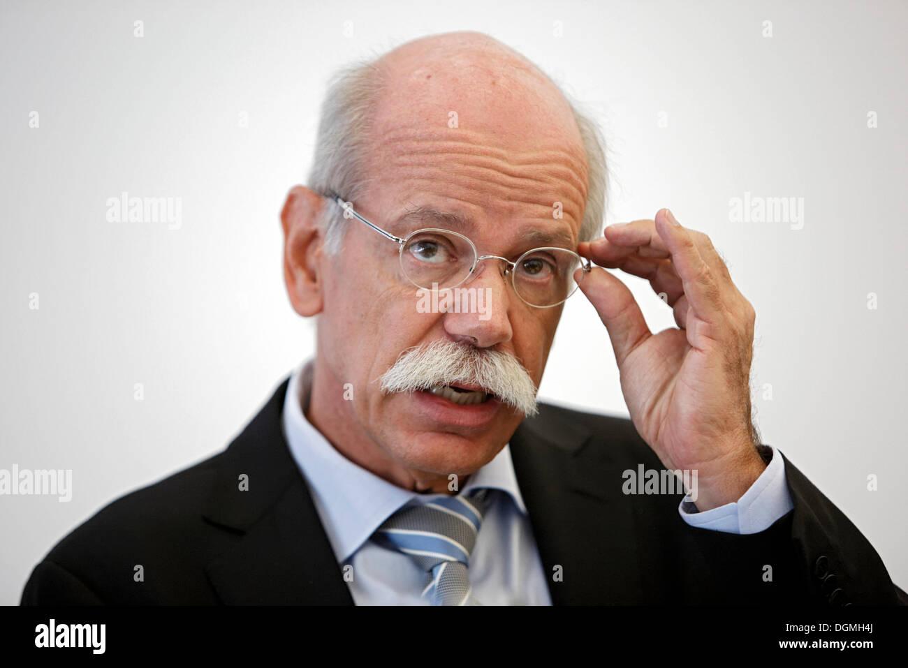 Dr. Dieter Zetsche, Chairman of the Board of Management of Daimler AG, Stuttgart, Baden-Wuerttemberg - Stock Image