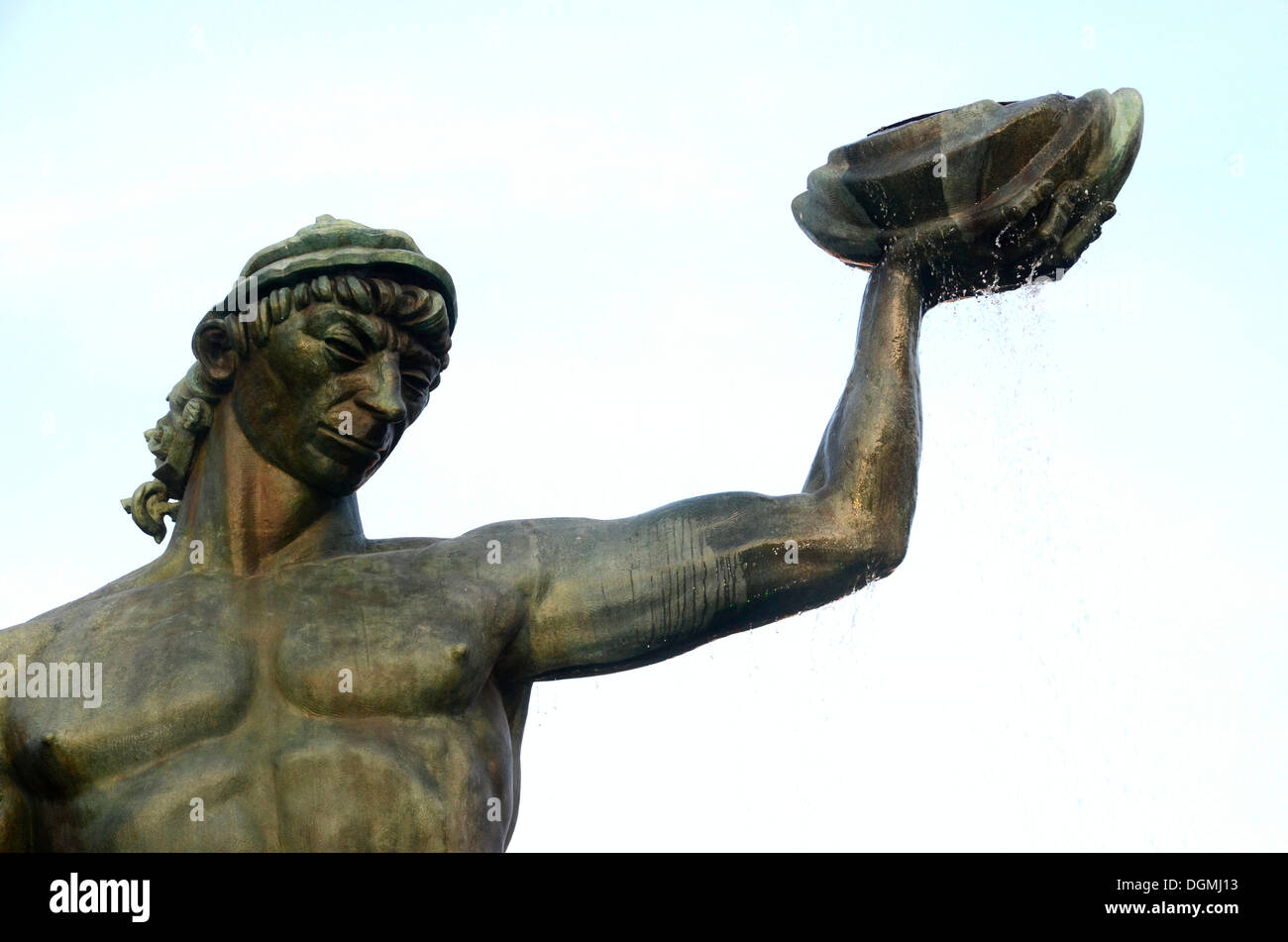Statue of Poseidon in Gothenburg, Sweden, Europe - Stock Image