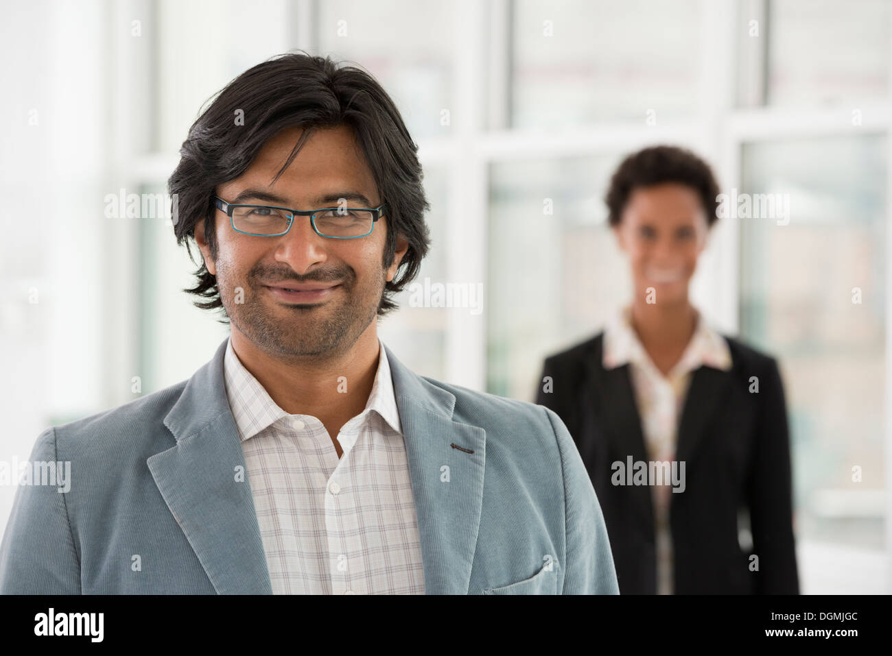 Business people. A man and a woman. - Stock Image