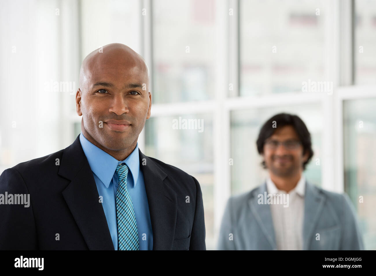 Business people. Two men in suits. - Stock Image