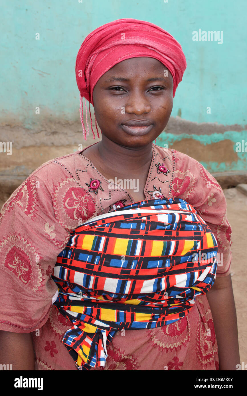 Young Gonja Woman Of the Guan Ethnic Group, Ghana - Stock Image