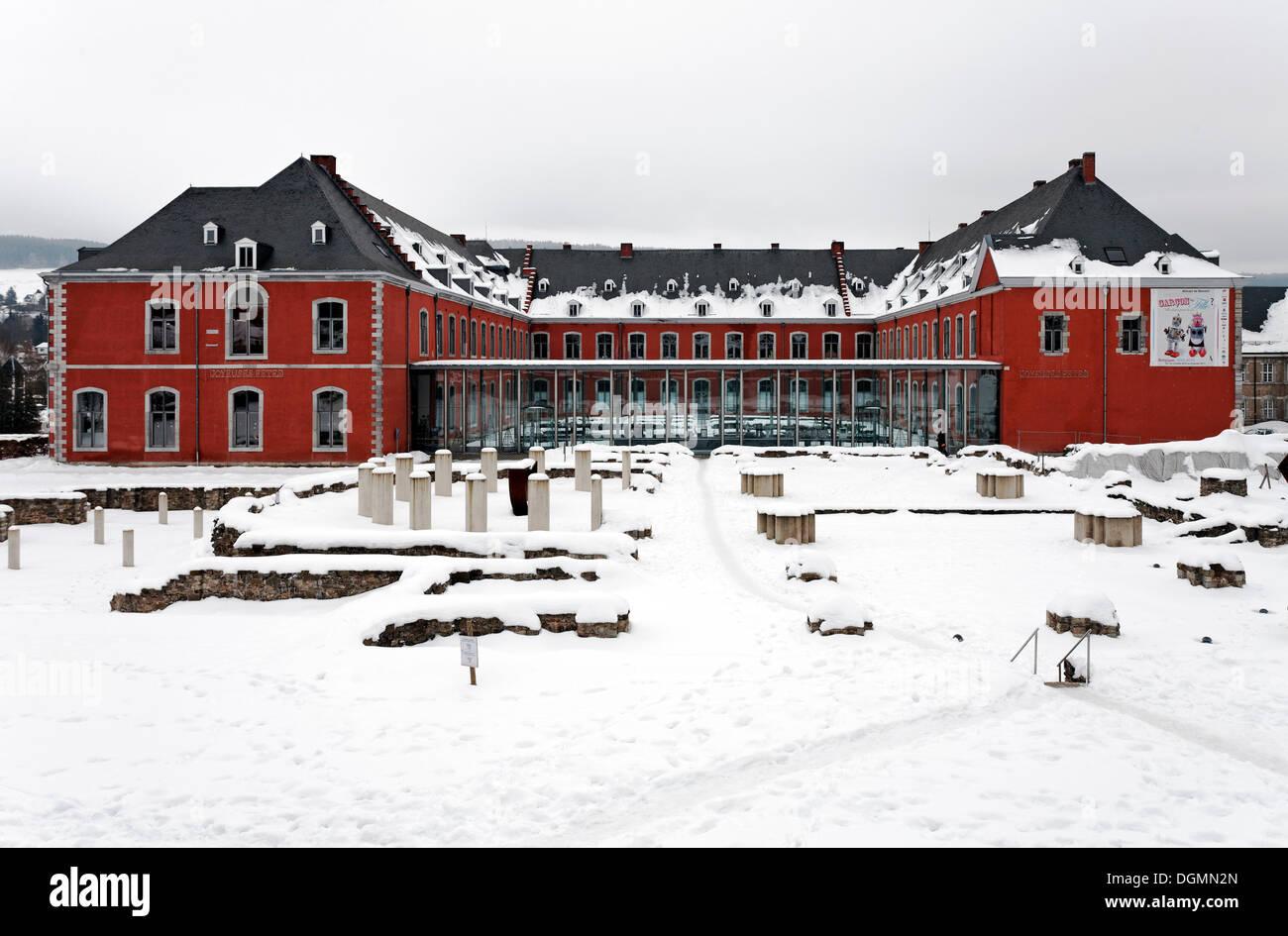 Stavelot Abbey, Ardennes region, Liège province, Wallonia region, Belgium, Benelux, Europe - Stock Image
