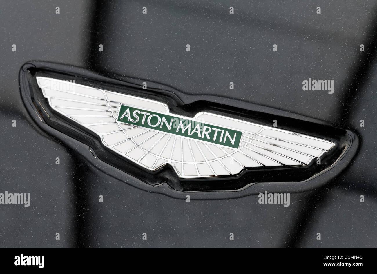 Aston Martin Logo On The Hood British Car Brand For Sports Cars