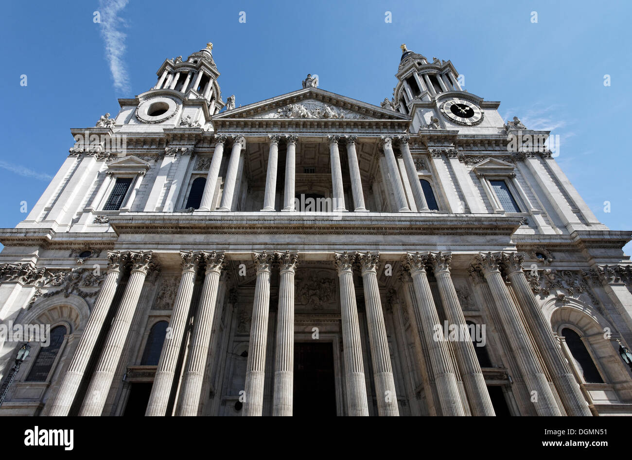 St. Paul's Cathedral, London, England, United Kingdom, Europe - Stock Image