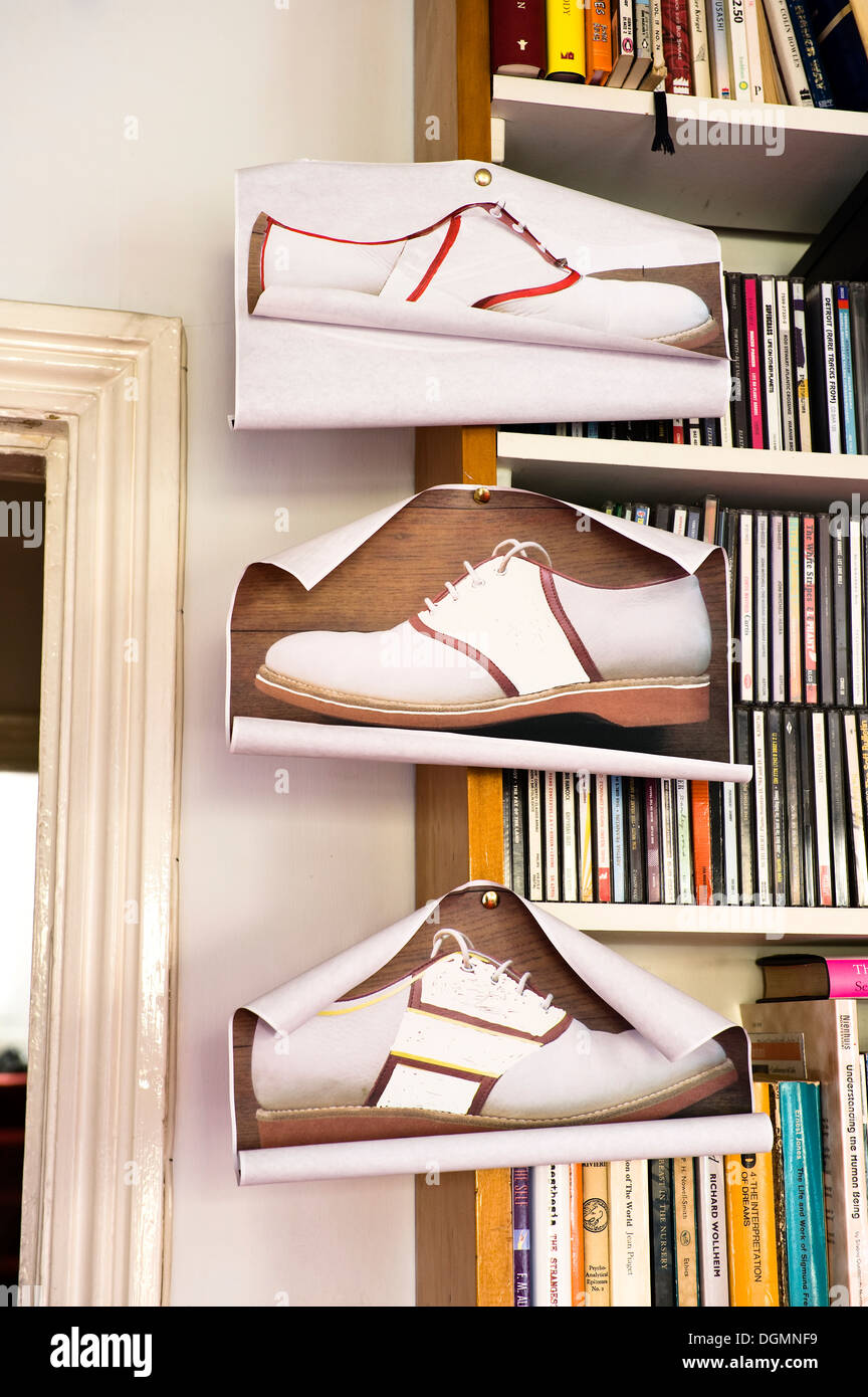 Designs for Sanderson's Oxford saddle shoes - Stock Image