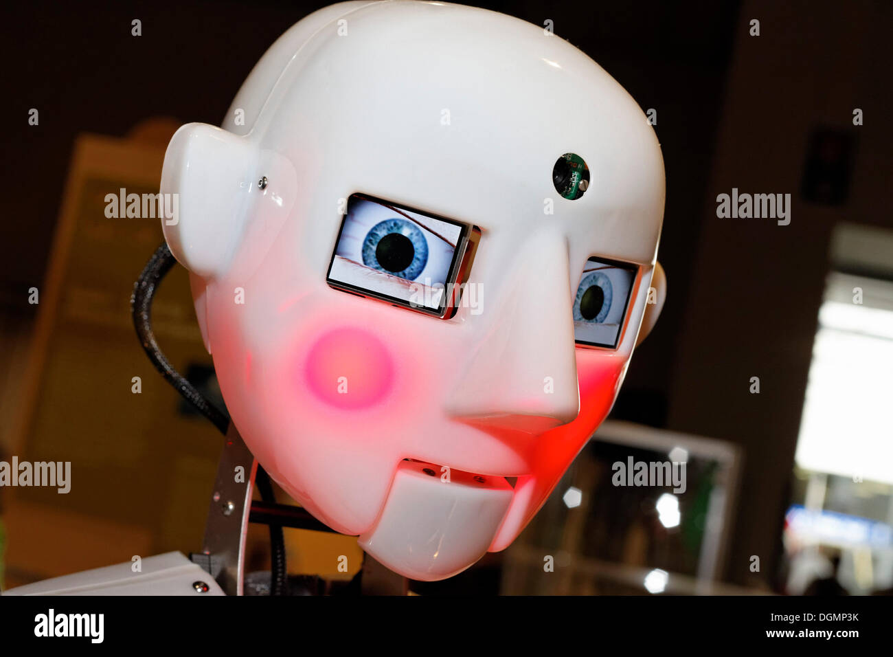 RoboThesbian, a humanoid robot by Engineered Arts, IdeenPark 2012, a technology and education summit conference for young people - Stock Image
