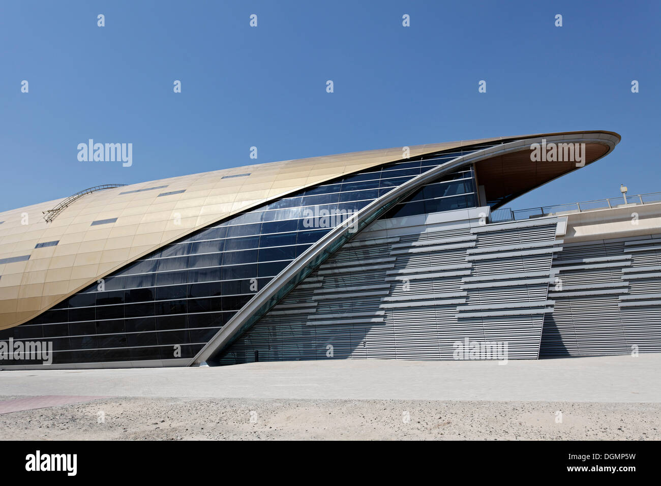 Metro Station, futuristic architecture, Dubai, United Arab Emirates, Middle East, Asia - Stock Image