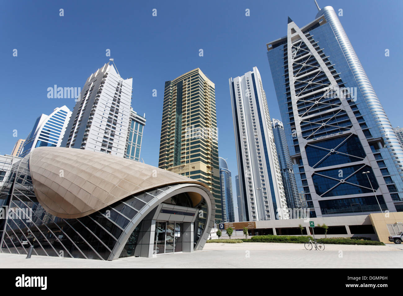 emirates towers metro station stock photos emirates towers metro station stock images alamy. Black Bedroom Furniture Sets. Home Design Ideas
