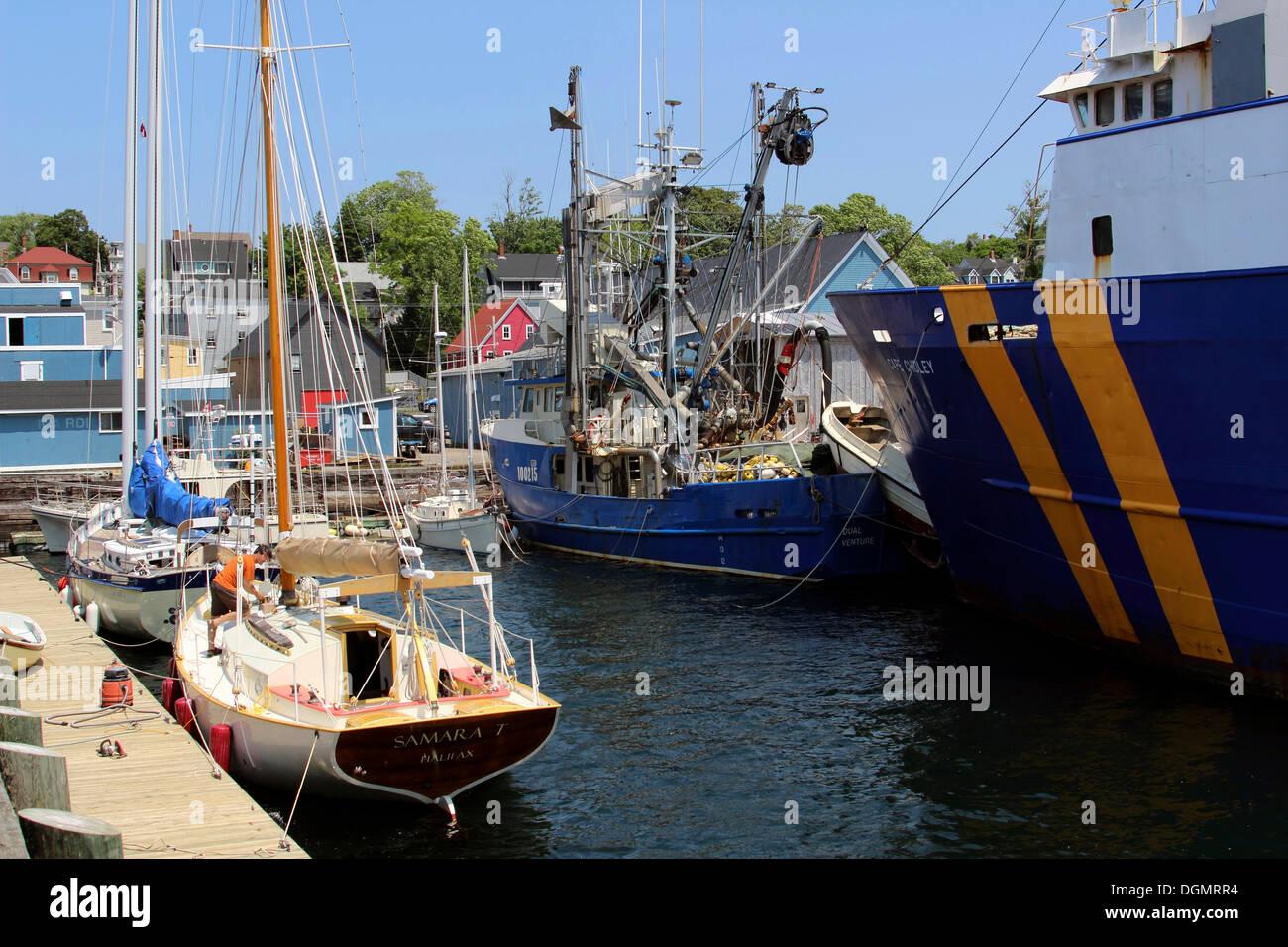 Port, Lunenburg, Eastern Shore, Maritime Provinces, Nova Scotia, Canada - Stock Image