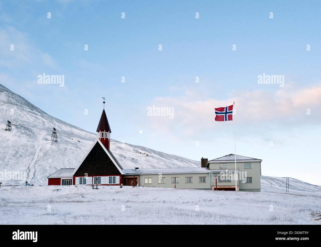 Church Of Longyearbyen Longyearbyen Spitsbergen Island