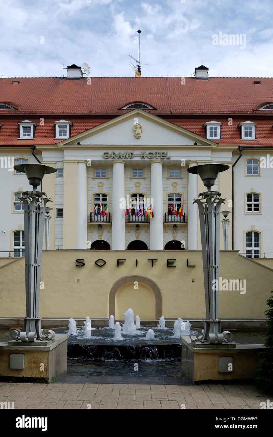 Grand Hotel on the beach of the Baltic resort of Sopot in Poland. - Stock Image