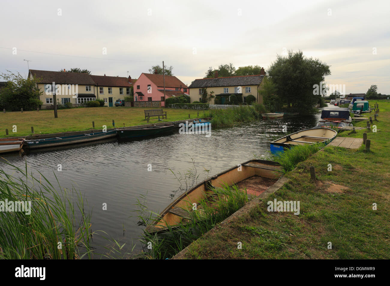 The village of West Somerton on the Norfolk Broads. - Stock Image