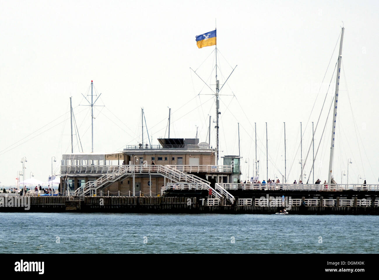 Pier in the Polish Baltic resort of Sopot. - Stock Image