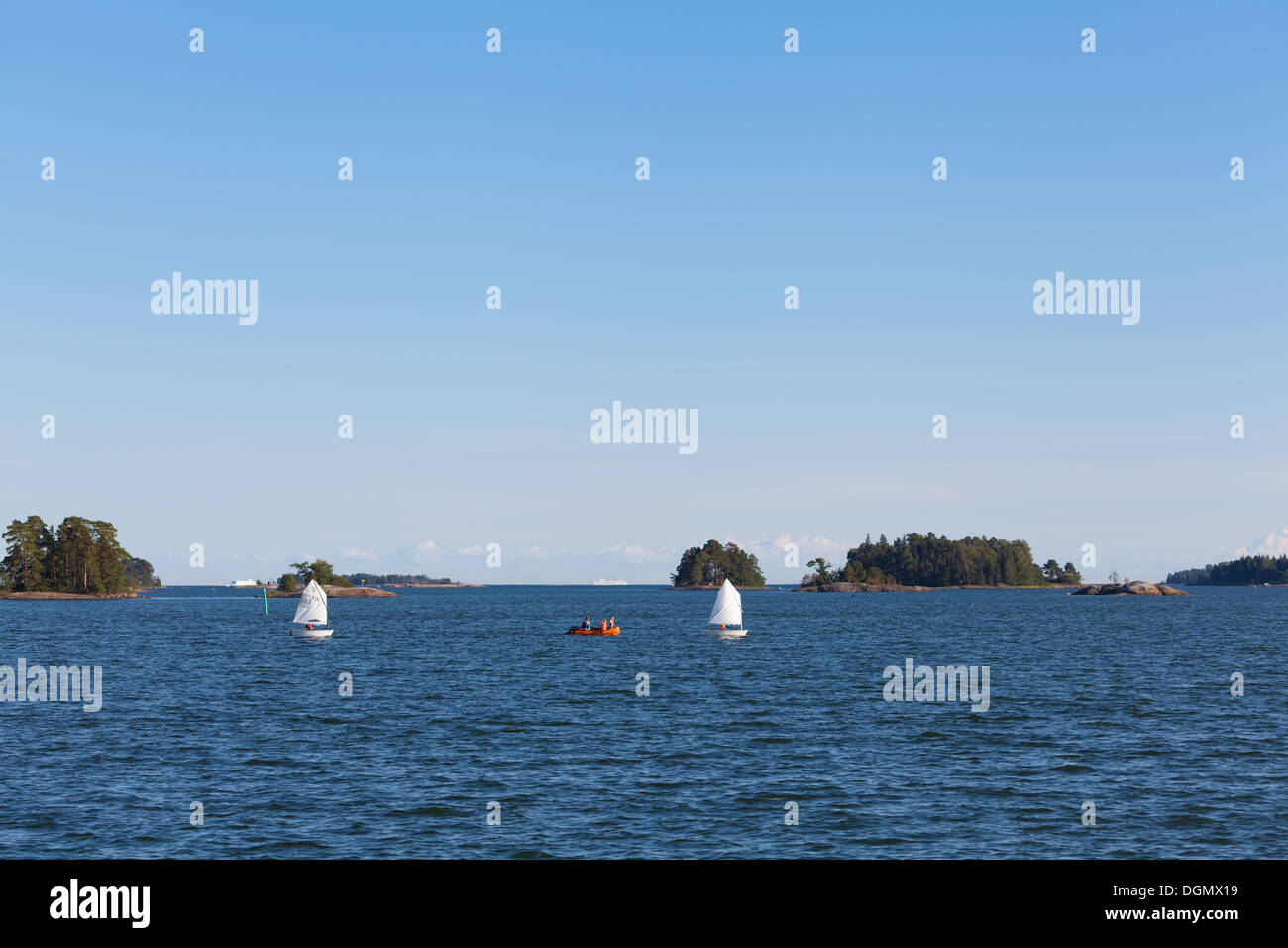 Optimist dinghy - Stock Image