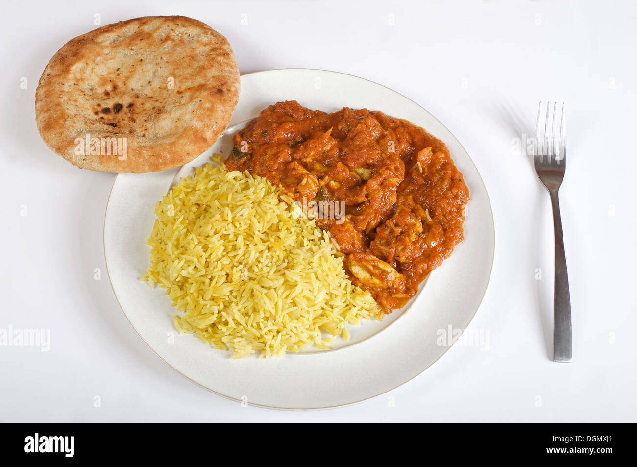 Supermarket brought Indian chicken Madras ready meal - Stock Image
