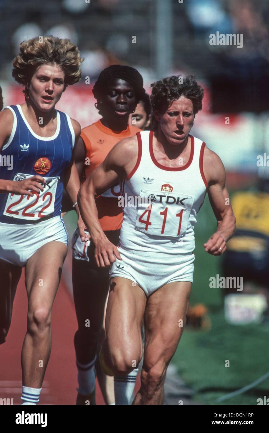 Jarmila Kratochvilova (CZE) competing in the 1983 World Athletics Championships. Stock Photo