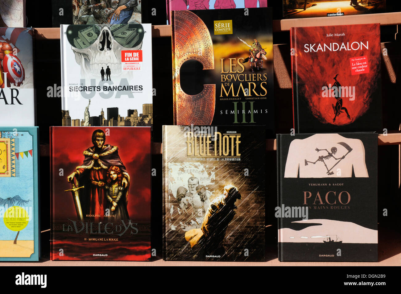 French graphic novels - Stock Image