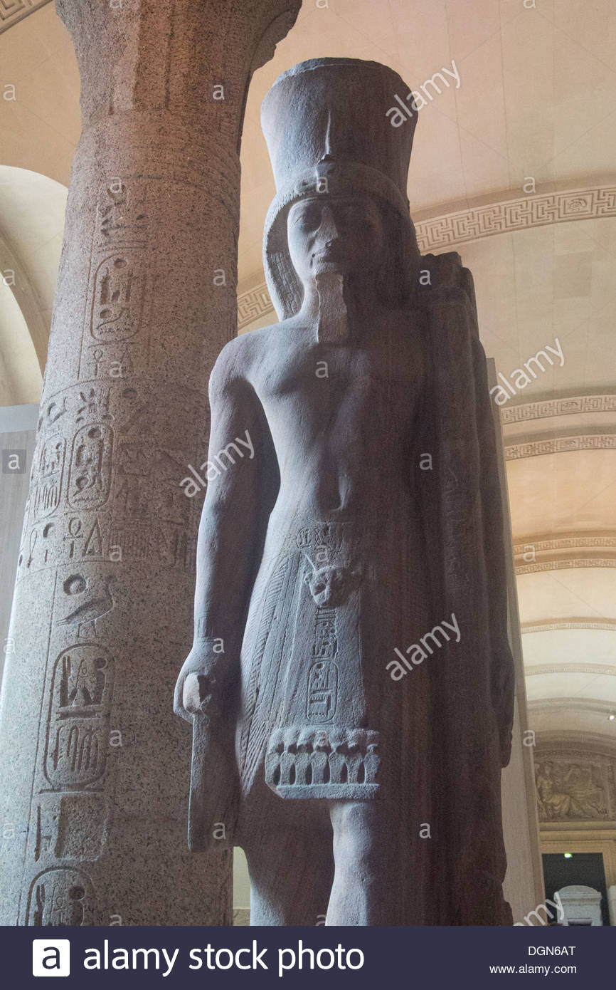 Ancient artefact in the Lourve, Paris, France - Stock Image