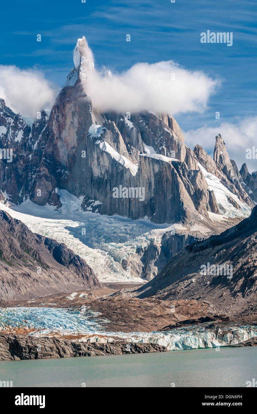 Cerro Torre mountain, Patagonia, Argentina - Stock Image