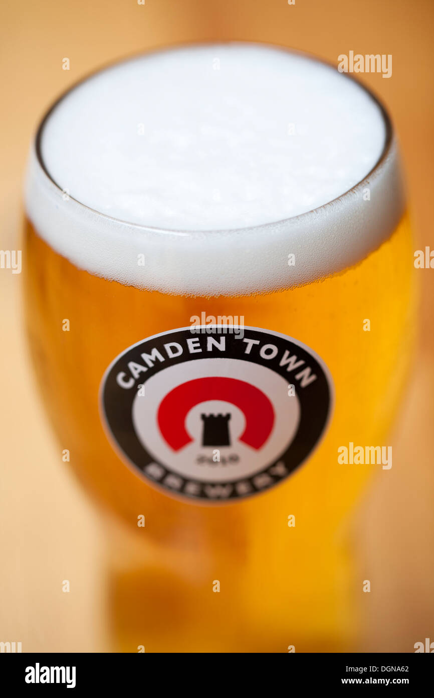 Pint of Beer from the Camden Town Brewery - Stock Image