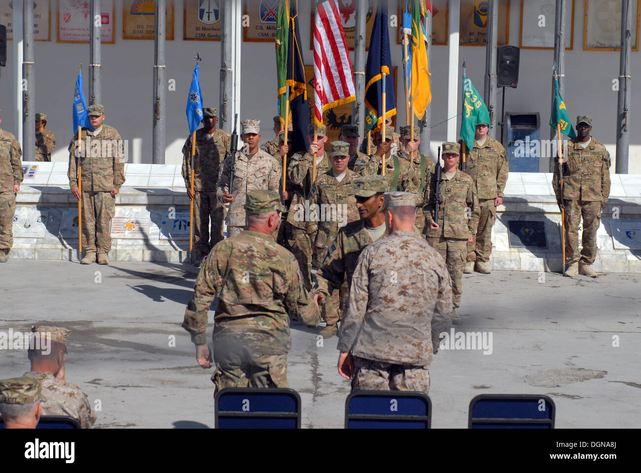 Brig. Gen. Mark S. Inch assumes command of CJIATF 435. More than 150 team members of the Combined Joint Interagency Stock Photo