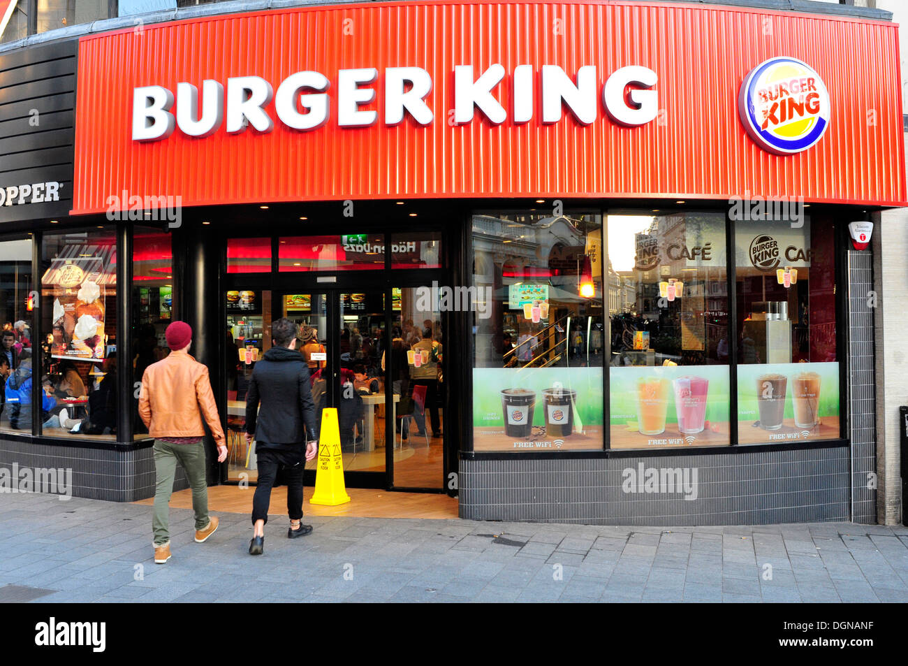 a general view of burger king restaurant in leicester square central stock photo 61935035 alamy. Black Bedroom Furniture Sets. Home Design Ideas