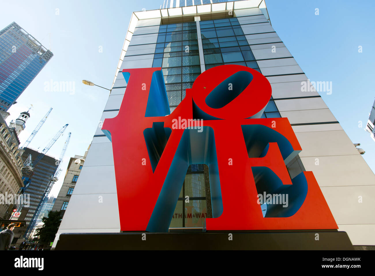LOVE By Robert Indiana 99 Bishopsgate London England UK