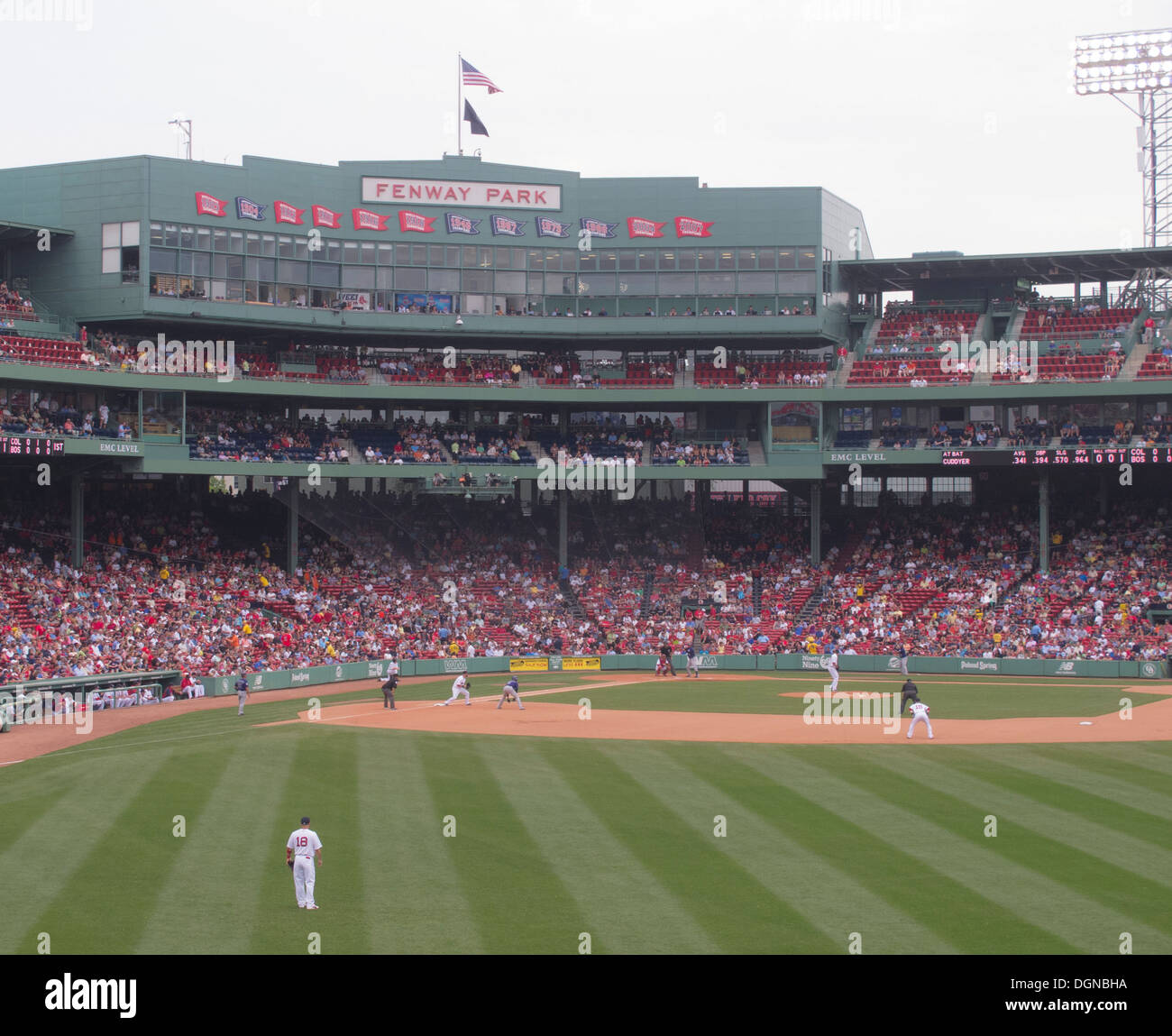 Game day at Fenway Park, home of the Boston Red Sox baseball team since 2012. The Boston Red Sox won the 2013 World Stock Photo