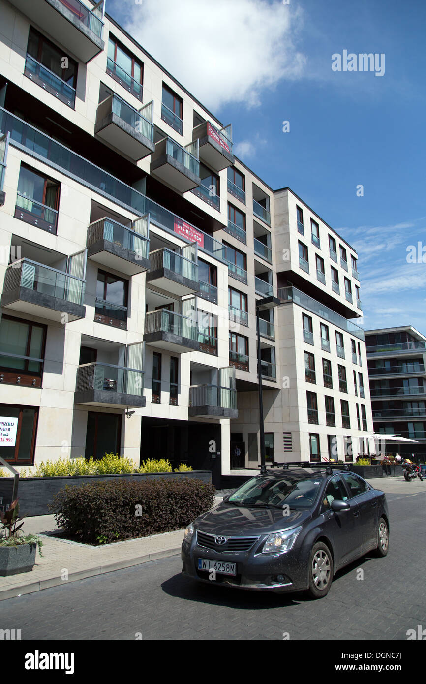 Warsaw, Poland, Nowe Powisle, a luxury housing complex of the investor Menolly poland Stock Photo