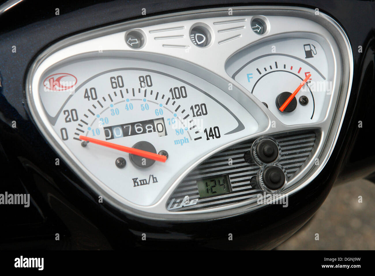 Kymco Lite 125 scooter instruments - Stock Image