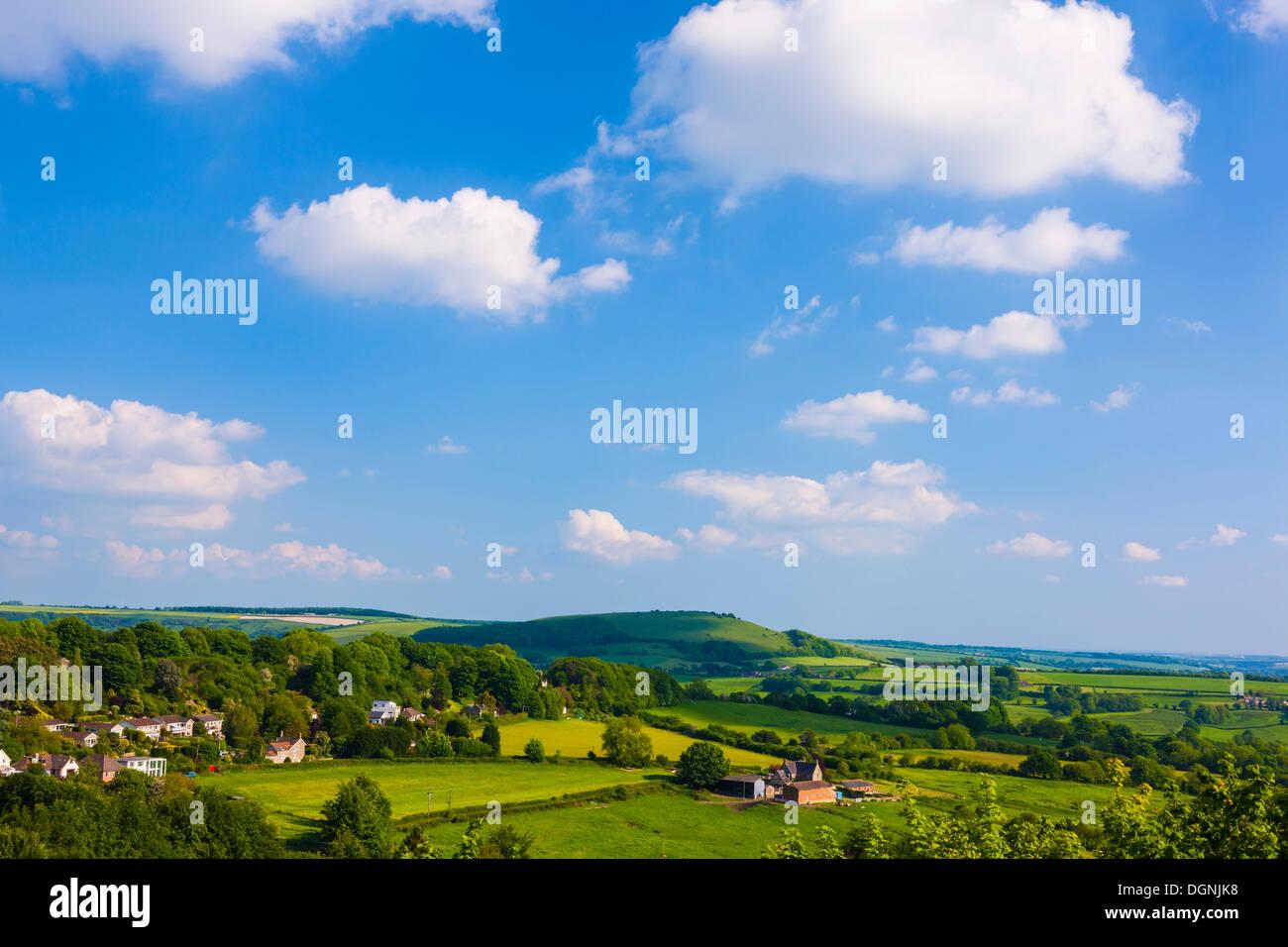 Landscape, bei Shaftesbury, Dorset, England, United Kingdom - Stock Image