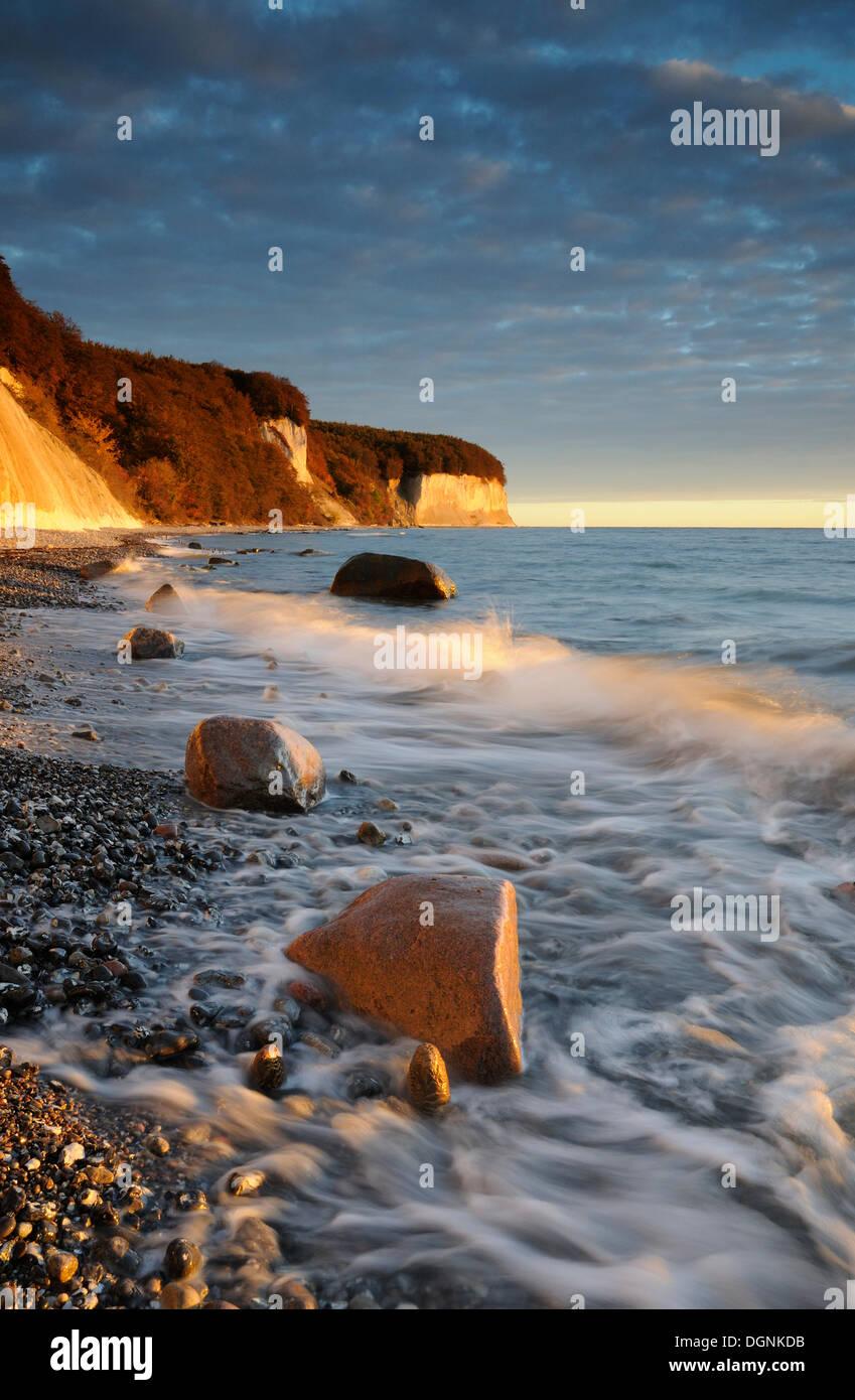 Cliffs at the Baltic Sea, Jasmund National Park, Ruegen island, Mecklenburg-Western PomeraniaNON EXCLUSIVE USAGE FOR CALENDAR - Stock Image