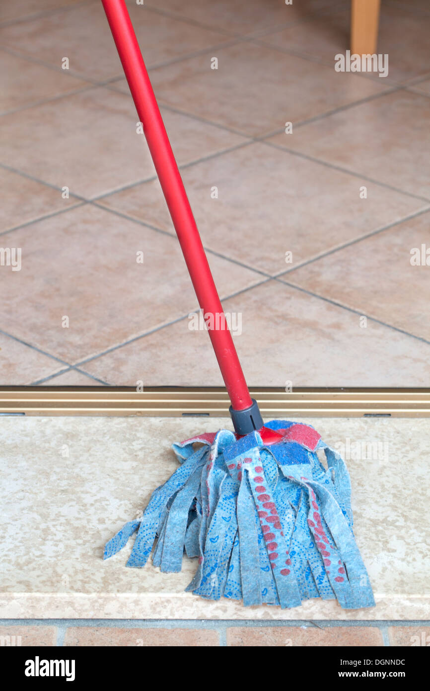 Cleaning mop - Stock Image