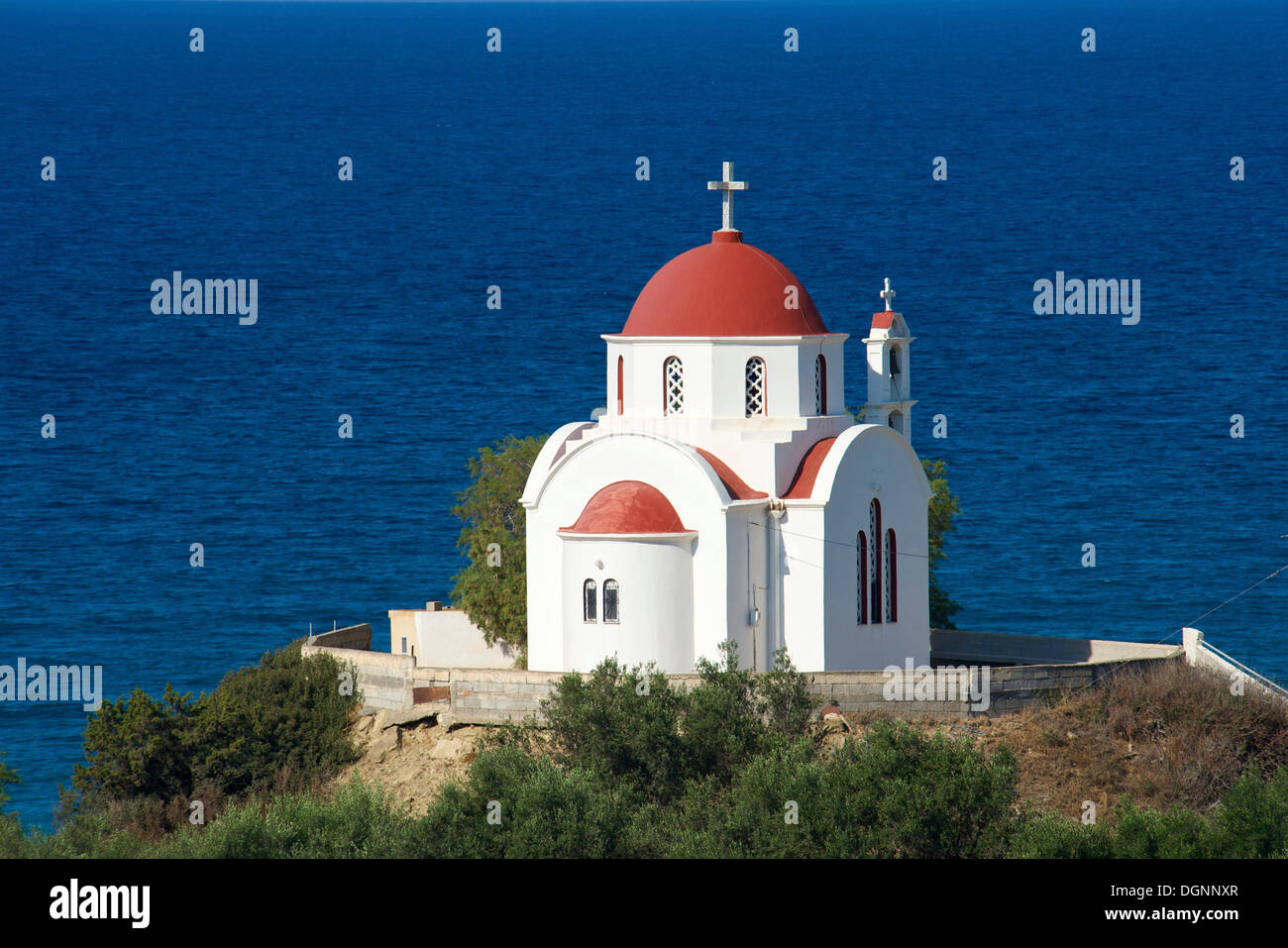 Nea Mirtos church, south coast, Crete, Greece, Europe - Stock Image