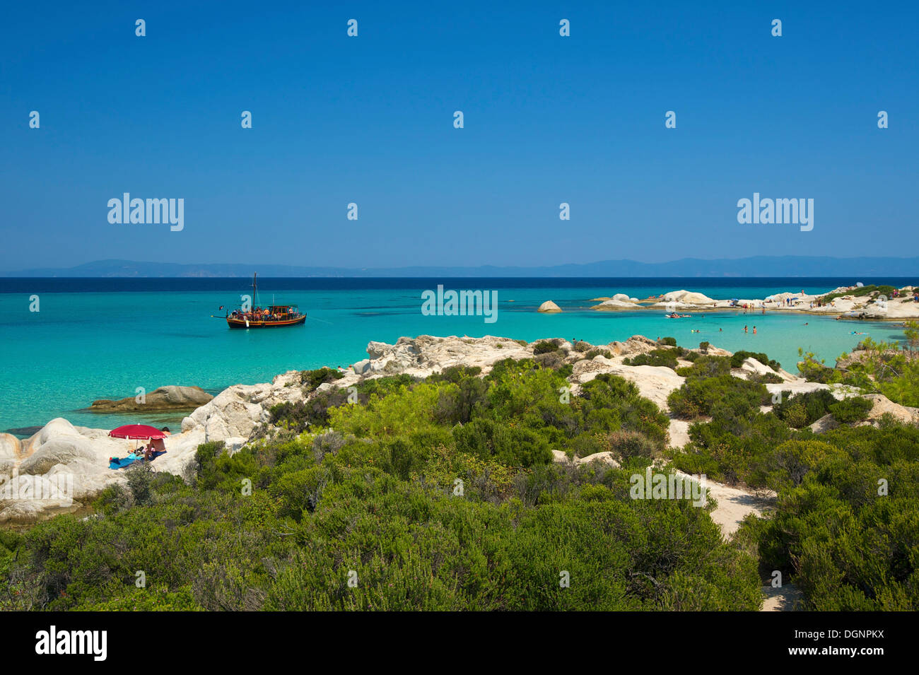 Portokali Beach, Kavourotypes, Sithonia, Chalkidiki, Greece Stock Photo