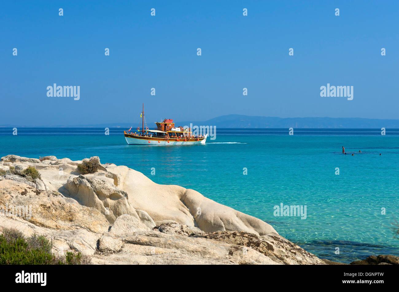 Portokali Beach, Kavourotypes, Sithonia, Chalkidiki, Greece Stock Photo