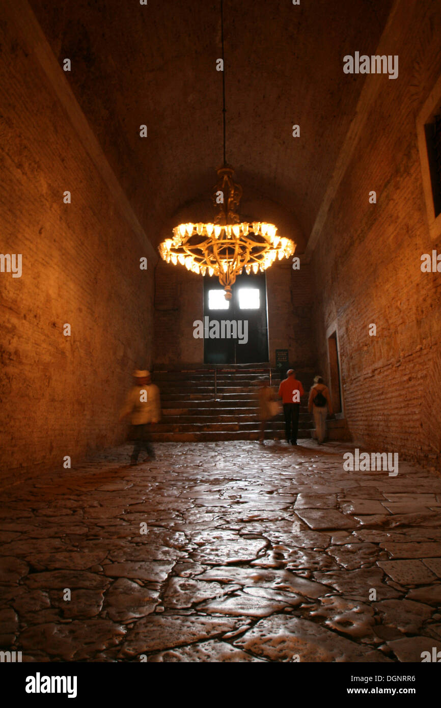 Interior view of the Hagia Sophia, Church of Holy Wisdom, Istanbul, Turkey - Stock Image