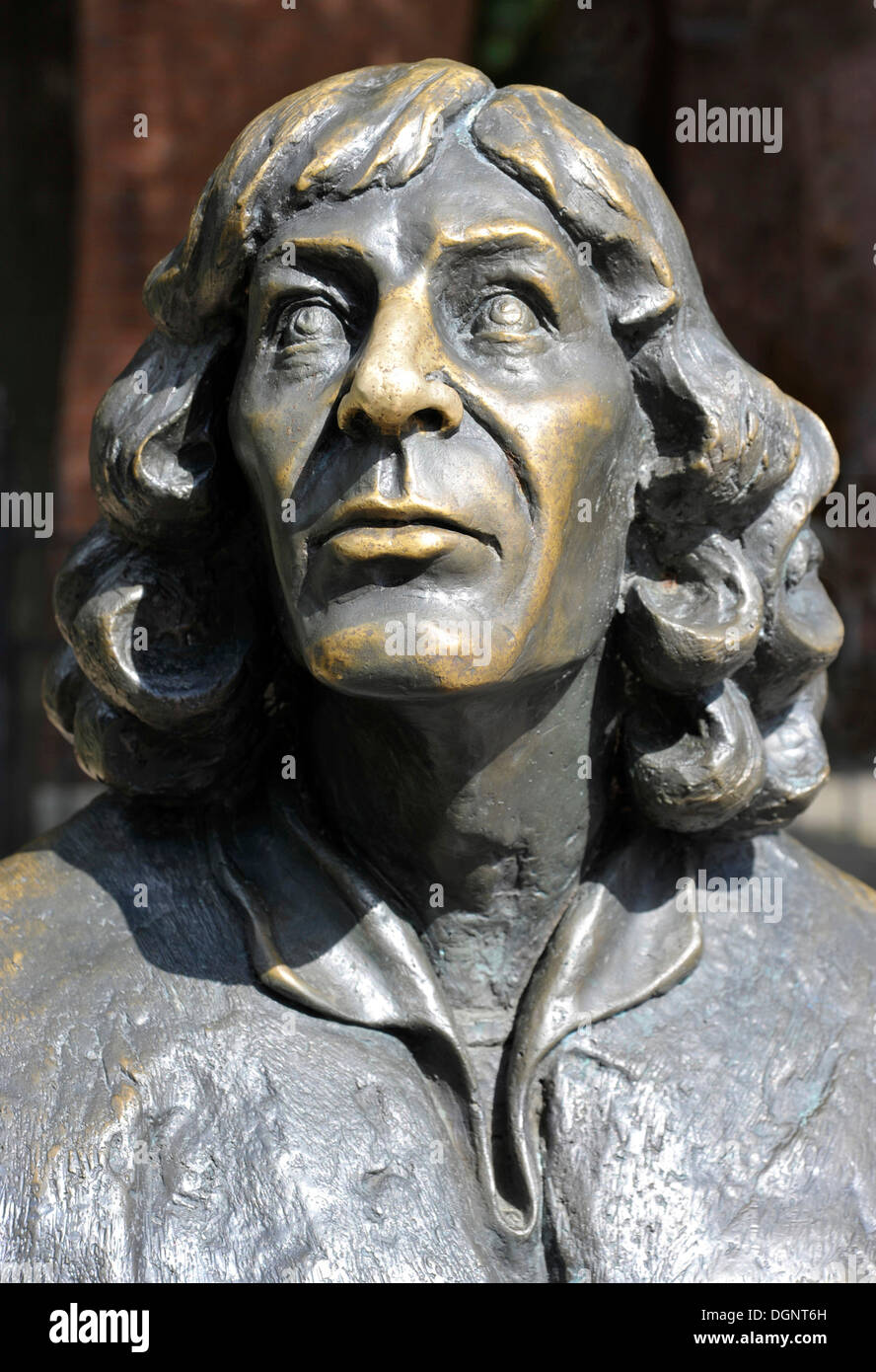 Nicholas Copernicus Monument, Castle Museum of Bishop's Castle, Allenstein, Olsztyn, Mazury, Poland, Europe - Stock Image
