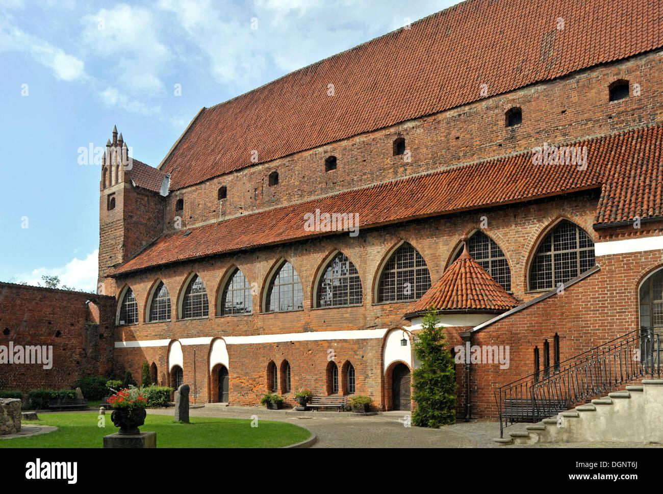 Courtyard of the Bishop's Castle, Allenstein, Olsztyn, Mazury, Poland, Europe - Stock Image