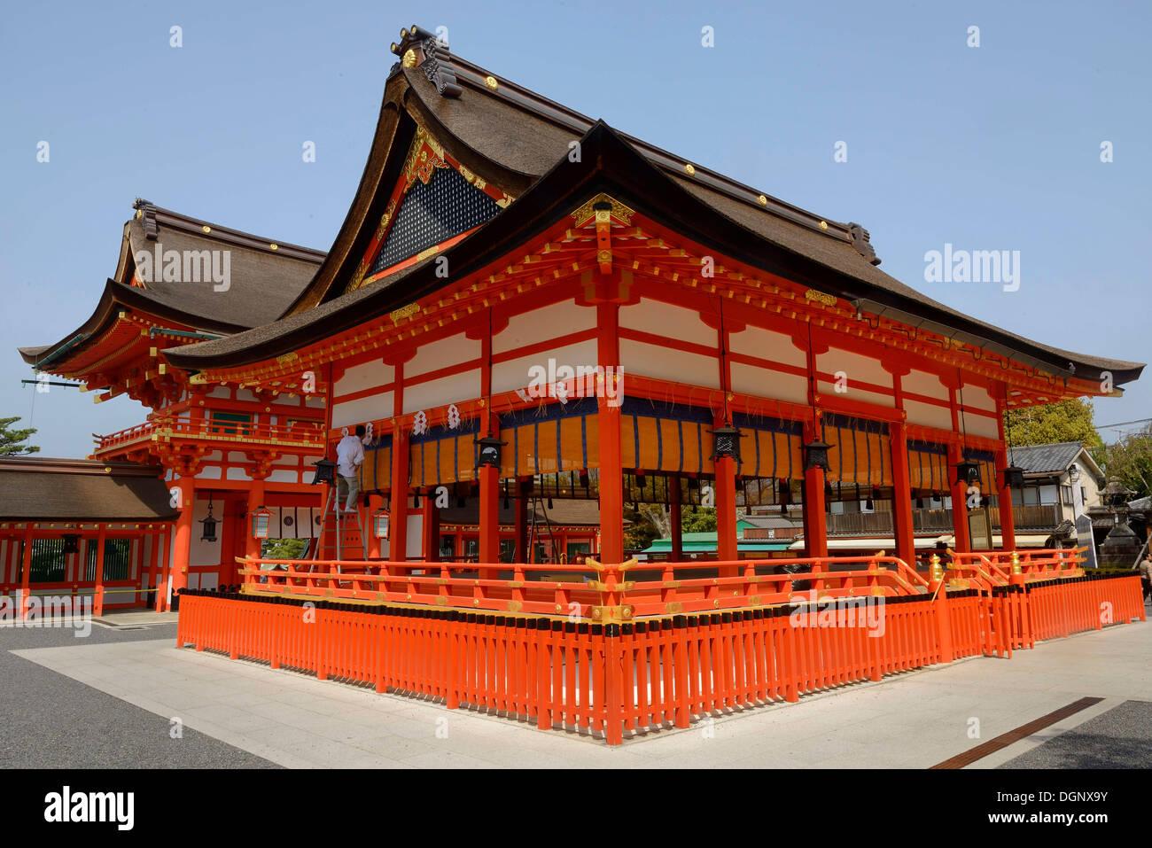 Fushimi Inari Taisha or Oinari-san Shinto shrine, Fushimi, Kyoto, Kinki region, Japan - Stock Image