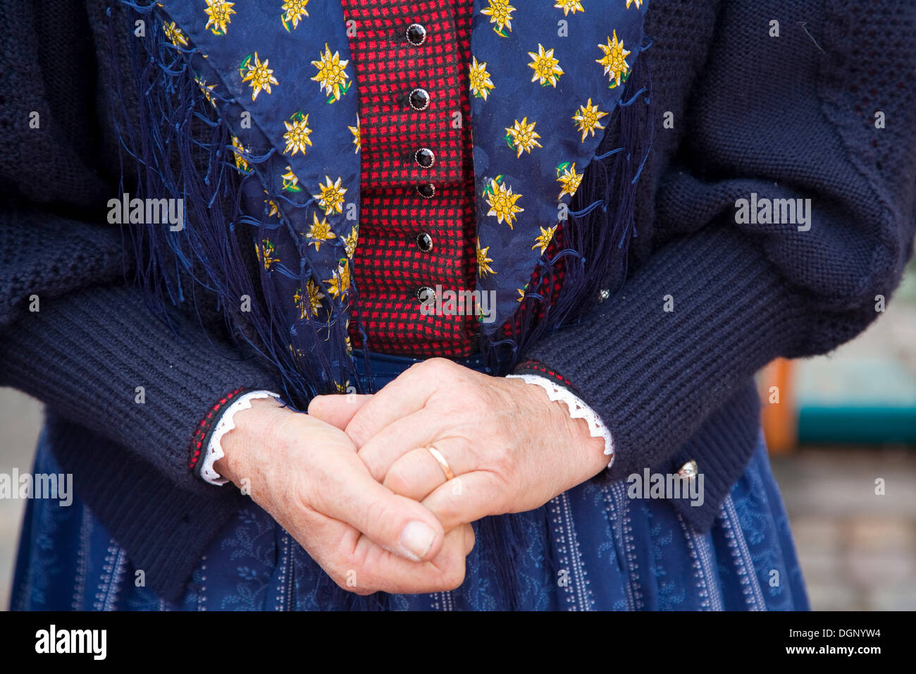 Traditional costume in South Tyrol, Italy, Europe - Stock Image
