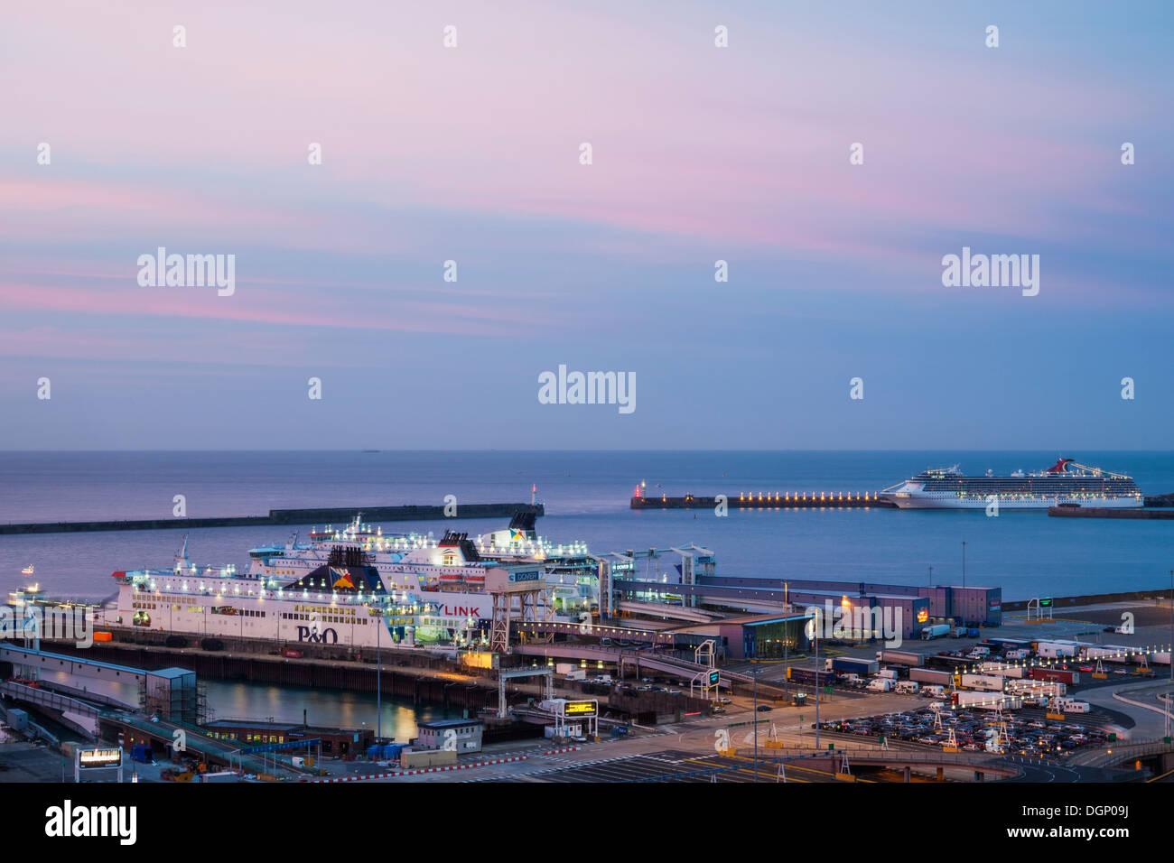 England, Kent, Dover, Dover Port Stock Photo