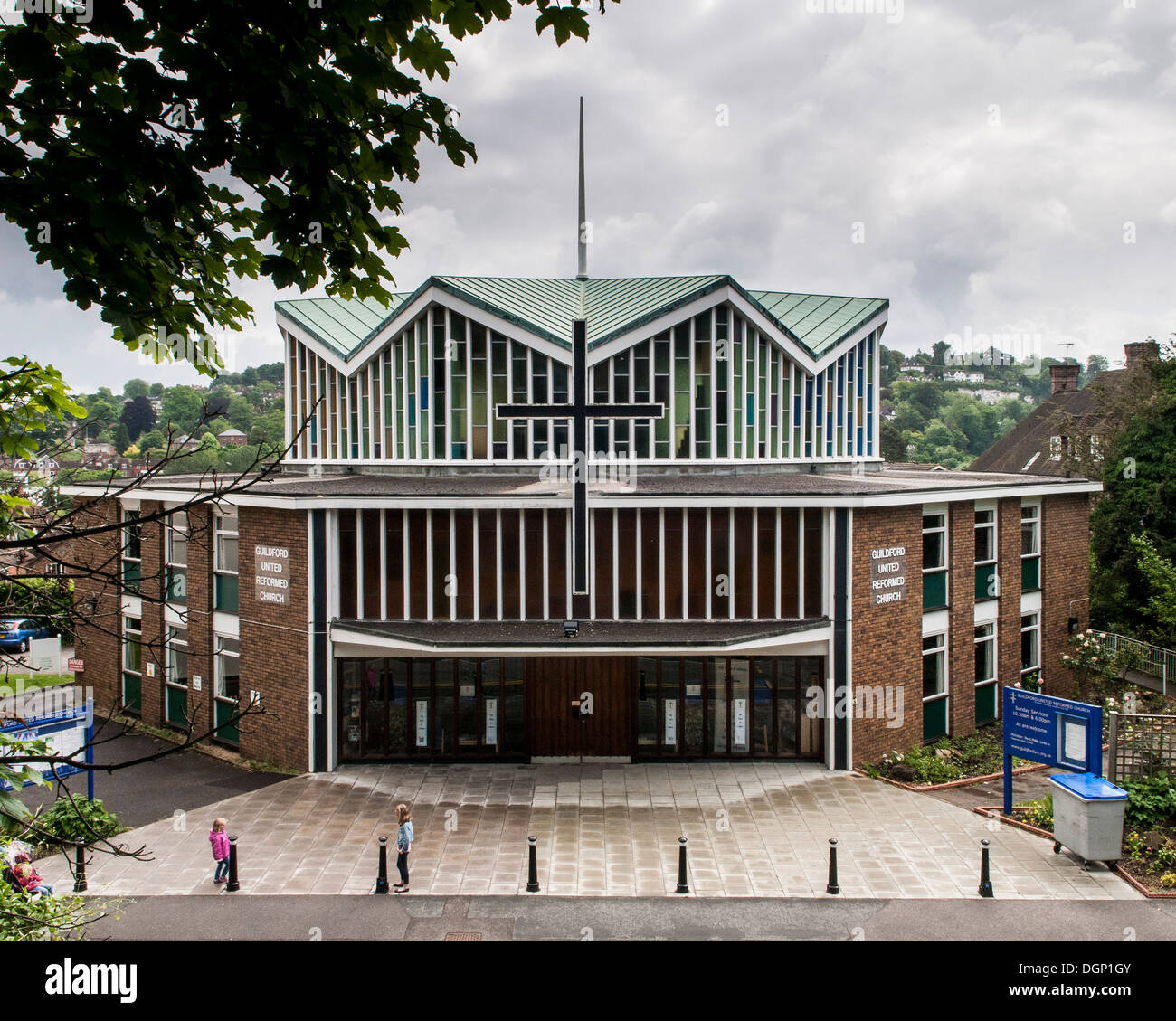 Guildford United Reformed Church, Guildford, United Kingdom. Architect: Unknown, 1967. Stock Photo