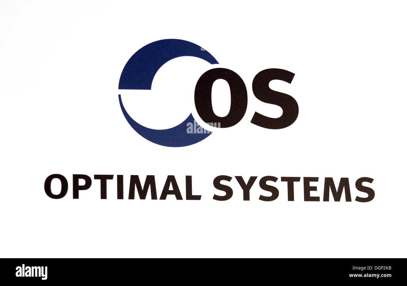 Hannover, Germany, the company's logo Optimal Systems - Stock Image
