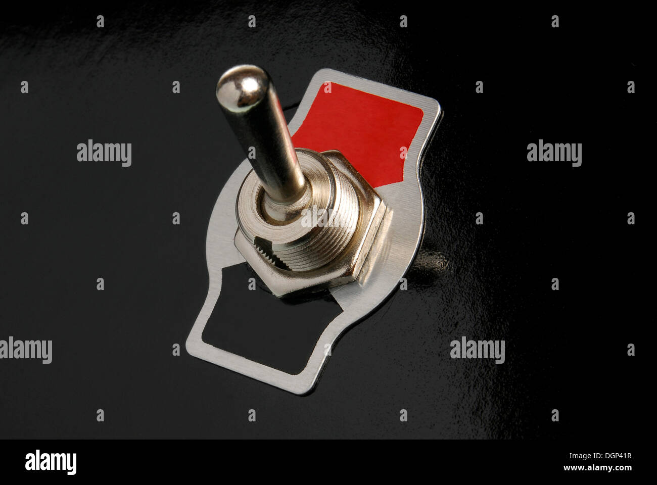 Toggle switch, without a label, symbolic image - Stock Image
