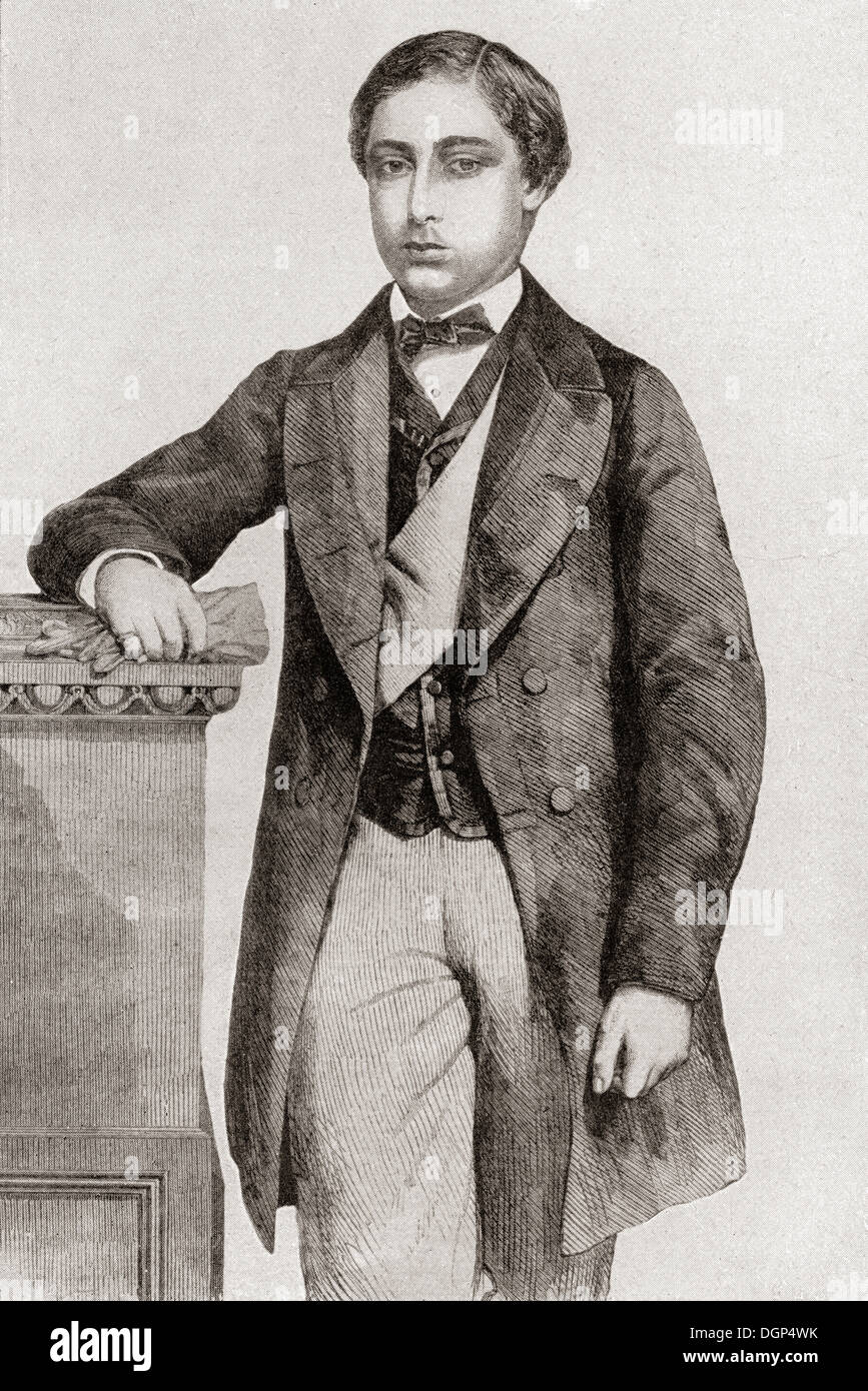 Albert Edward, Prince of Wales, 1841-1910, future King Edward VII, seen here in 1860. - Stock Image