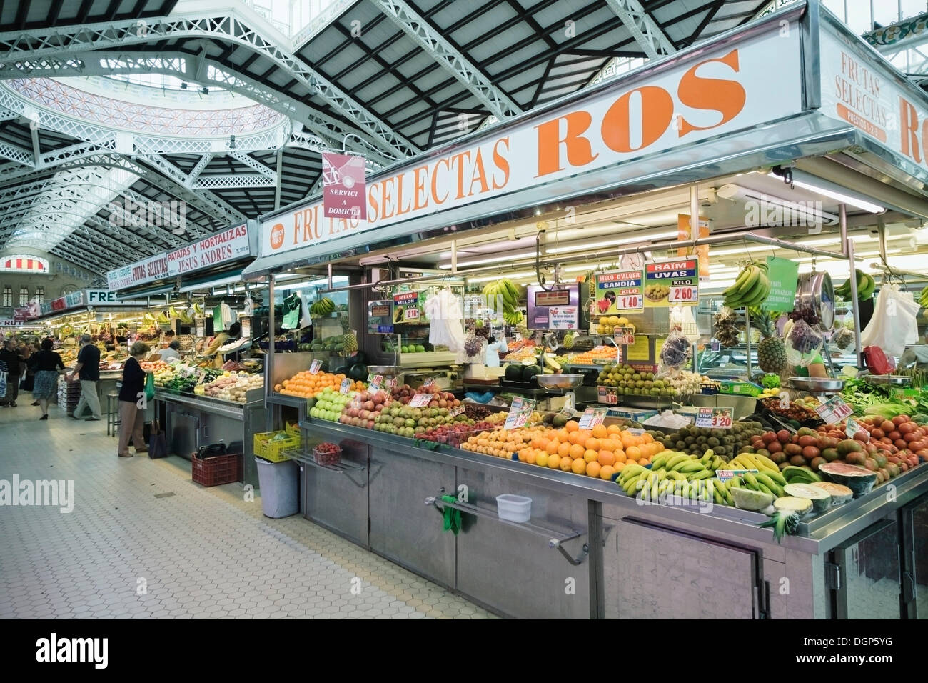 Mercado Central market, Valencia, Comunidad Valencia, Spain, Europe - Stock Image