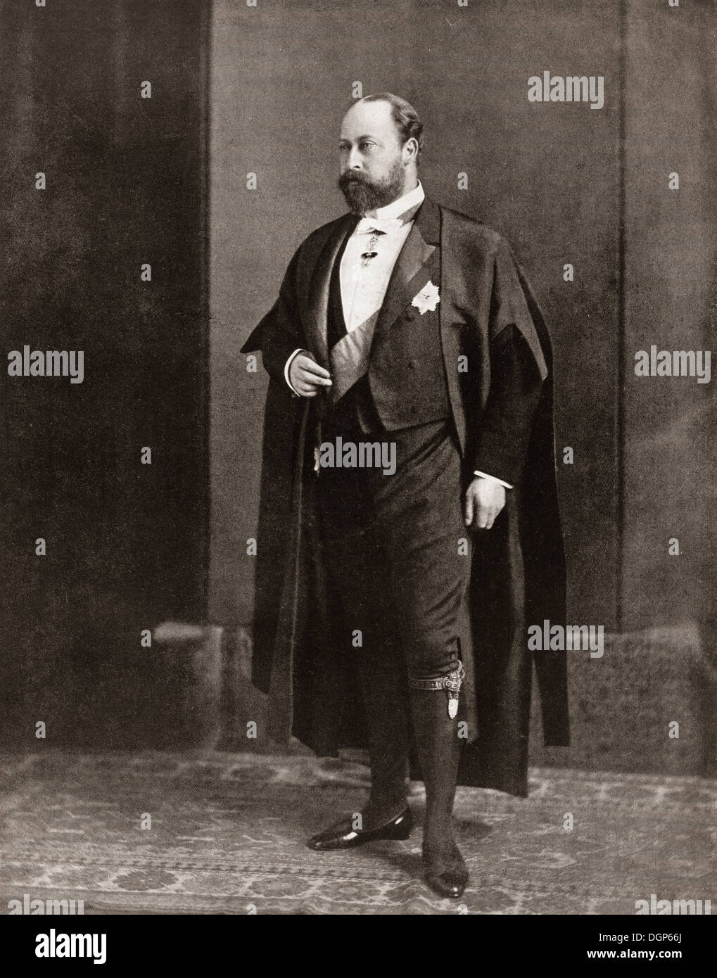 Albert Edward Prince of Wales, future Edward VII , 1841 – 1910, seen here as a bencher of the Middle Temple. - Stock Image