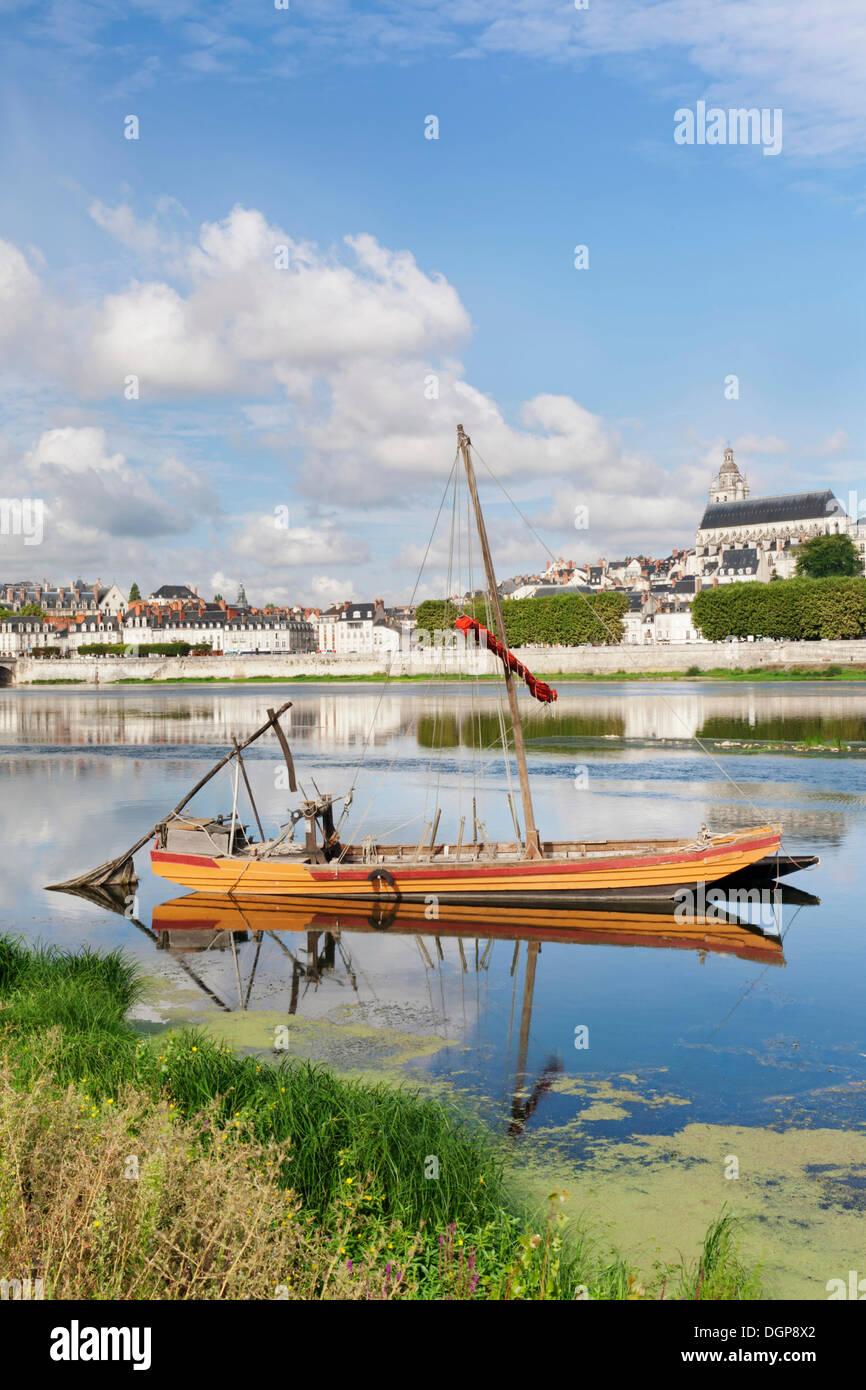 City view with cathedral, Blois, Département Loir-et-Cher, Region Central, France, Europe - Stock Image
