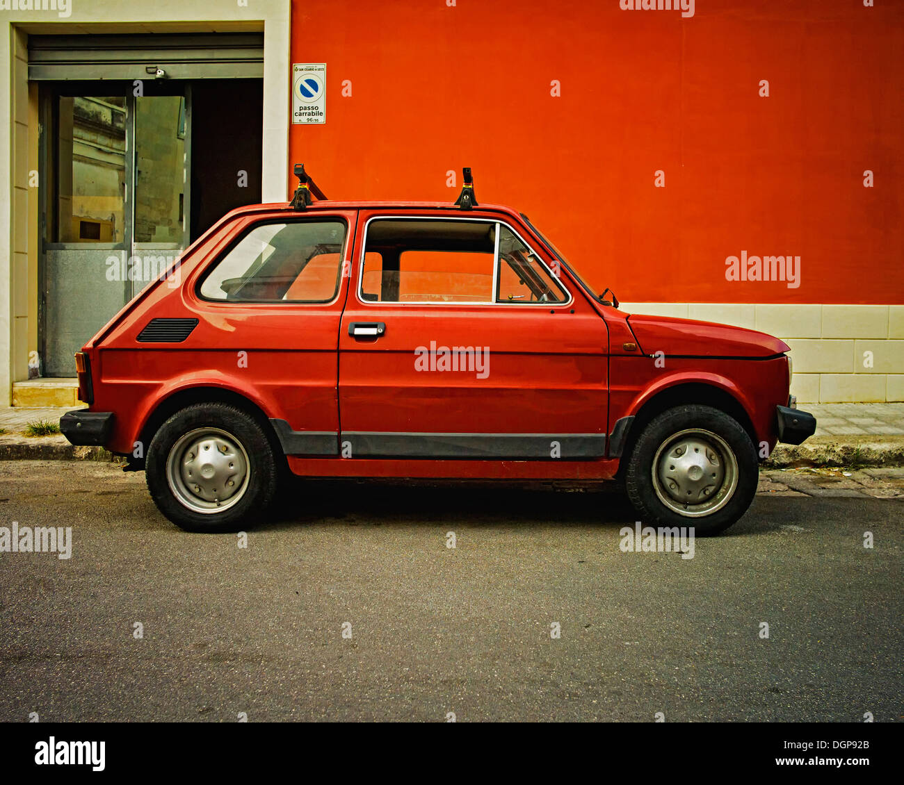 Old car fiat by old house stock photos old car fiat by for Albanese arredamenti san cesario lecce